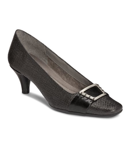Black Weave Cheerystem Pump