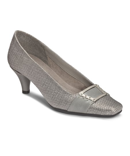 Gray Weave Cheerystem Pump
