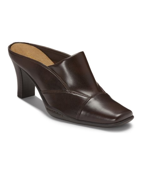 Dark Brown Cincture Mule