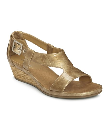 Taupe Croco Crown Chewls Wedge