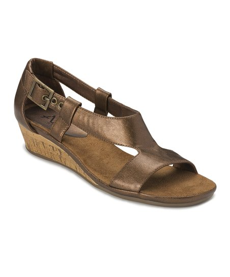 Bronze Crown Chewls Wedge Sandal