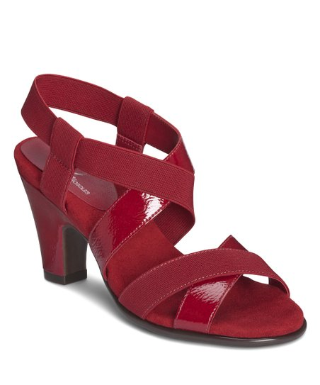 Red Patent Kaleidescope Sandal