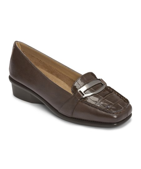 Dark Brown Croco Medley Loafer