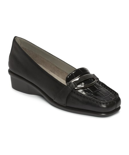 Black Croco Medley Loafer