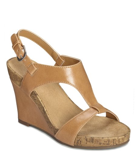 Tan Plush Above Wedge