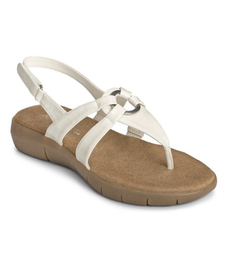 White Swipt Away Sandal