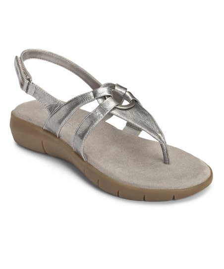 Silver Swipt Away Sandal