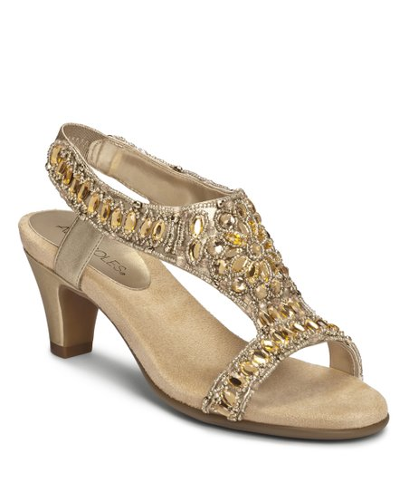 Gold Metallic Wild Fire Sandal