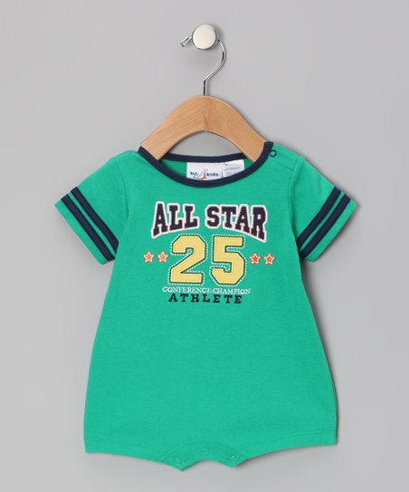 Green 'All Star' Romper - Infant