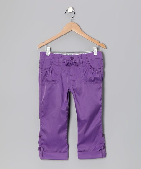 Purple Capri Pants