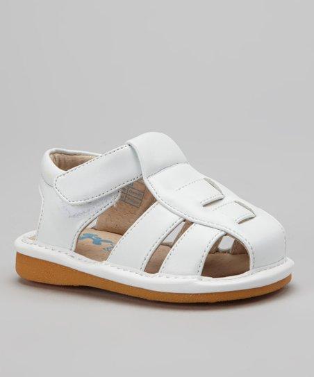 White Original Squeaker Sandal