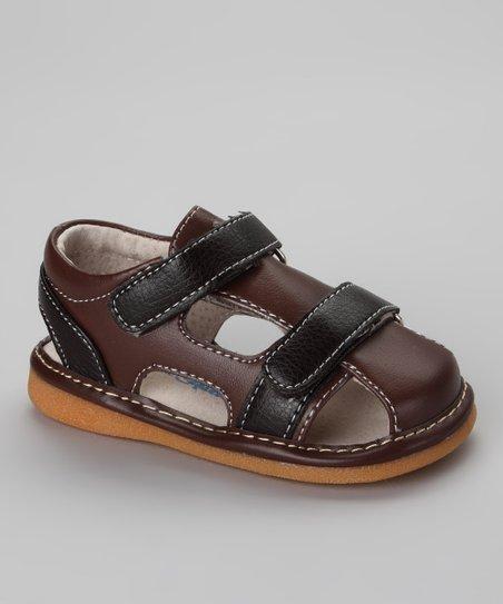 Espresso & Brown Mocha Squeaker Sandal