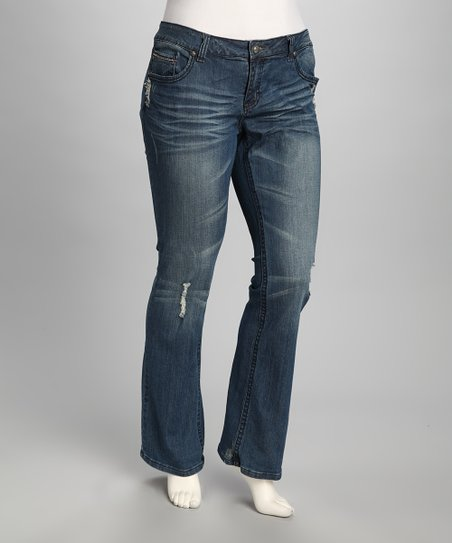 Blue Farris Plus-Size Jeans