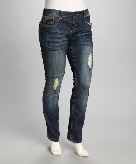 Blue Underground Plus-Size Bootcut Jeans