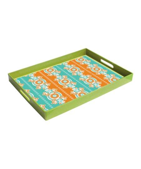 Green Garden Party Rectangle Tray