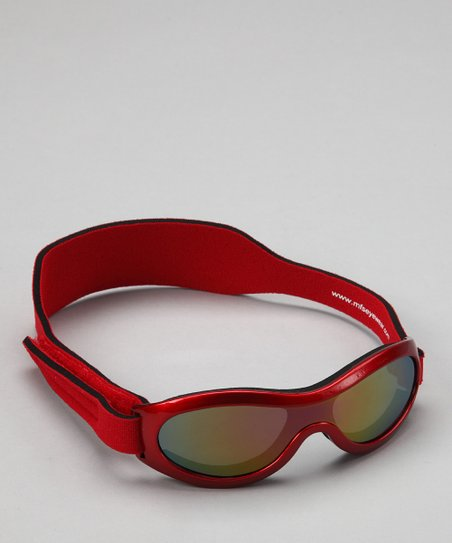 Red Polarized Sunglasses &amp; Strap - Toddler &amp; Kids