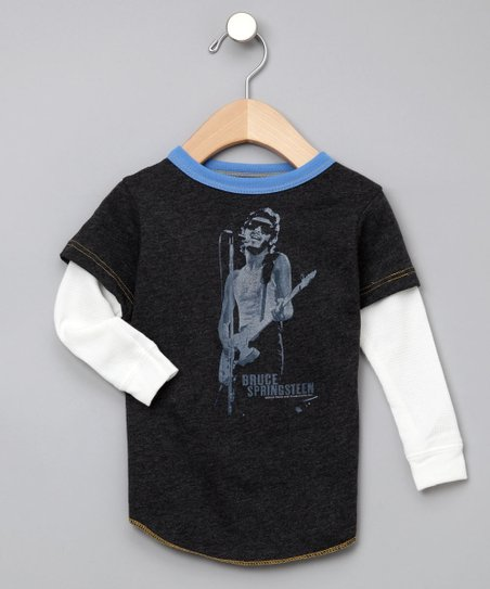 Gray Bruce Springsteen Layered Tee
