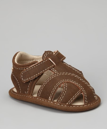 Brown Lil' Cruz Closed-Toe Sandal