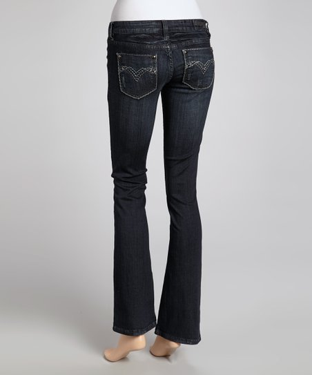 Dark Blue Exile Straight-Leg Jeans