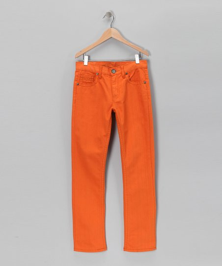 Orange Straight-Leg Pants - Boys