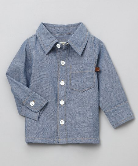 Blue Toby Button-Up - Toddler & Boys