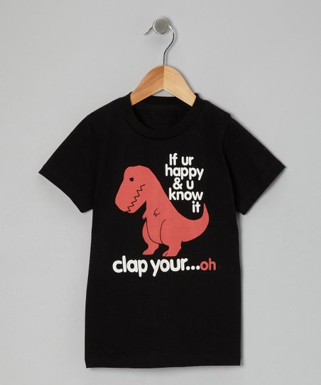 Black Sad T-Rex Tee - Toddler