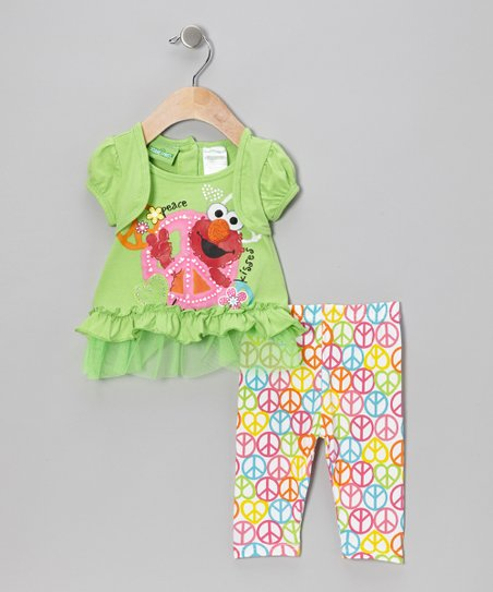Green Elmo Skirted Top & Leggings - Infant