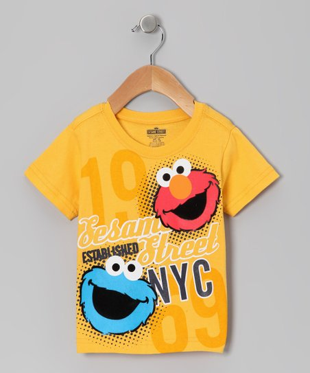 Yellow 'NYC' Elmo Tee - Infant