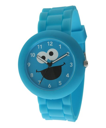 Blue Round Cookie Monster Watch