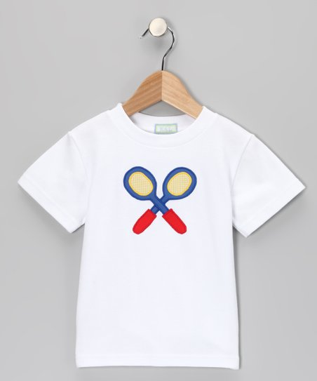 White Racquet Tee - Infant, Toddler & Boys