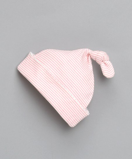Light Pink Tiny Stripe Single-Knot Beanie