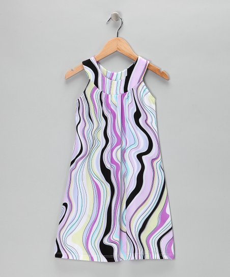 Lilac Wave Yoke Dress