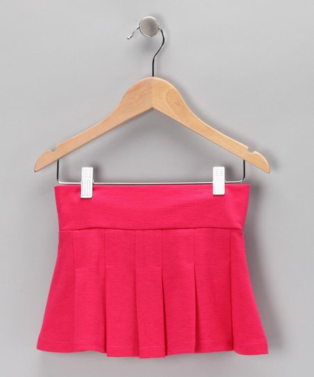 Fuchsia Ponti Pleated Skirt