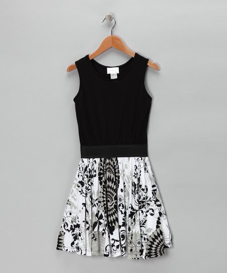 Black &amp; White Floral Dress