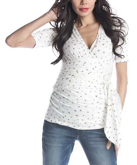 White Dandelion Adjustable Bella Maternity Top