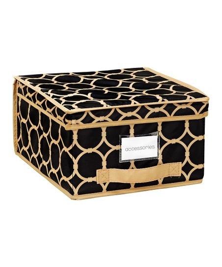 Black & Tan Hula Medium Storage Box