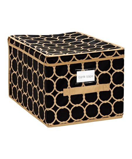 Black & Tan Hula Large Storage Box