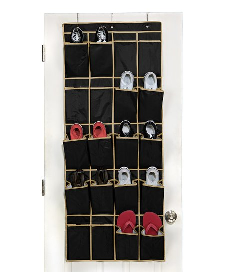 Black Over-Door Shoe Organizer