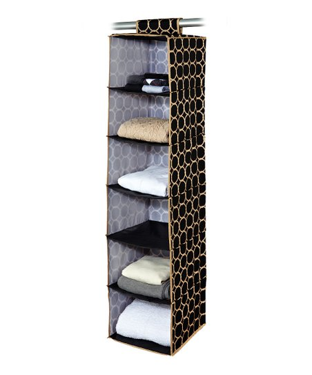 Black &amp; Tan Hula Hanging Closet Organizer