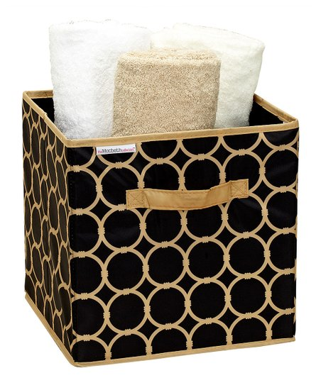 Hula Black & Tan Medium Storage Cube