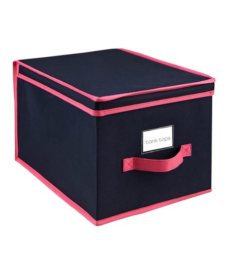 Navy & Fuchsia Large Storage Box