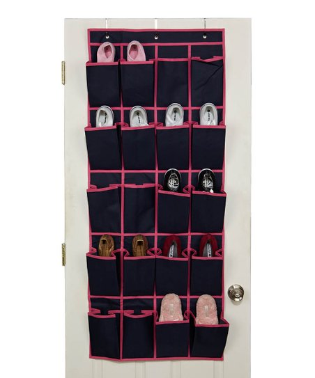 Navy &amp; Fuchsia Over-Door Shoe Organizer