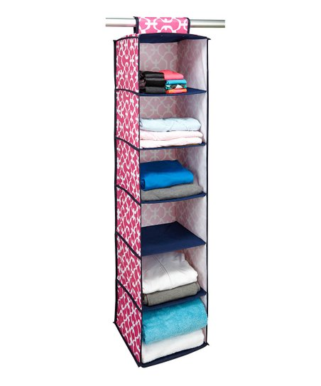 Pink Scout Hanging Closet Organizer