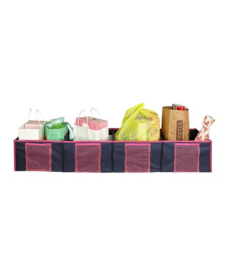 Pink Four-Compartment Trunk Organizer