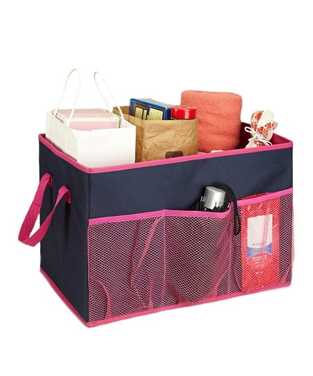 Pink Collapsible Trunk Organizer