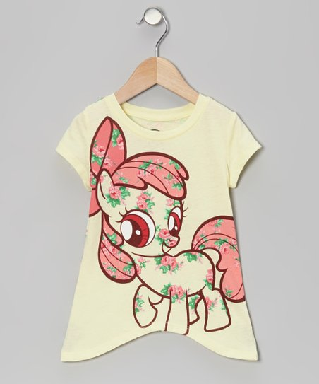 Light Yellow My Little Pony Sidetail Top - Toddler