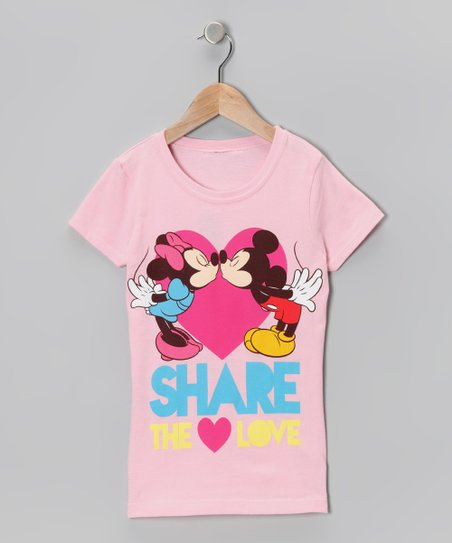 Light Pink 'Share the Love' Tee - Girls