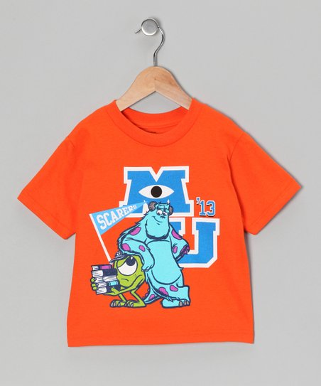 Orange 'MU' Monsters Inc. Tee - Toddler
