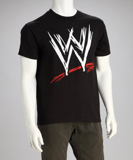 Black WWE Logo Tee - Men
