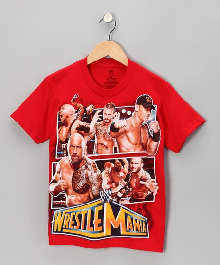 Red 'Wrestle Mania' Tee - Boys